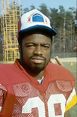 Washington Redskins cornerback Darrell Green (28) poses for a photo after it was announced he and three other teammates were selected for the Pro Bowl at Old Redskins Park in Herndon, Virginia on December 13, 1984.<br /> Credit: Arnold Sachs / CNP