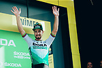 Peter Sagan (SVK) Bora-Hansgrohe retains the points Green Jersey at the end of Stage 16 of the 2019 Tour de France running 177km from Nimes to Nimes, France. 23rd July 2019.<br /> Picture: ASO/Thomas Maheux | Cyclefile<br /> All photos usage must carry mandatory copyright credit (© Cyclefile | ASO/Thomas Maheux)