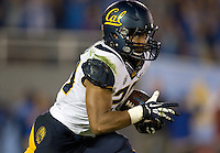 Khalfani Muhammad of California runs the ball during the game against UCLA at Rose Bowl in Pasadena, California on October 12th, 2013.   UCLA defeated California, 37-10.