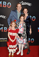 HOLLYWOOD, CA - MARCH 11: Ptolemy Slocum (L) and family attend the premiere of Disney's 'Dumbo' at El Capitan Theatre on March 11, 2019 in Los Angeles, California.<br /> CAP/ROT/TM<br /> &copy;TM/ROT/Capital Pictures