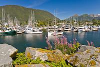 Commercial trolling vessel Unimak, Crescent Harbor, Sitka, Baranof Island, southeast, Alaska.