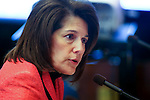Nevada Attorney General Catherine Cortez Masto testifies on the dangers of sex trafficking at the Legislative Building, in Carson City, Nev. on Wednesday, Feb. 20, 2013. Lawmakers are considering several measures to strengthen the law and improve social services and legal protection for victims. .Photo by Cathleen Allison