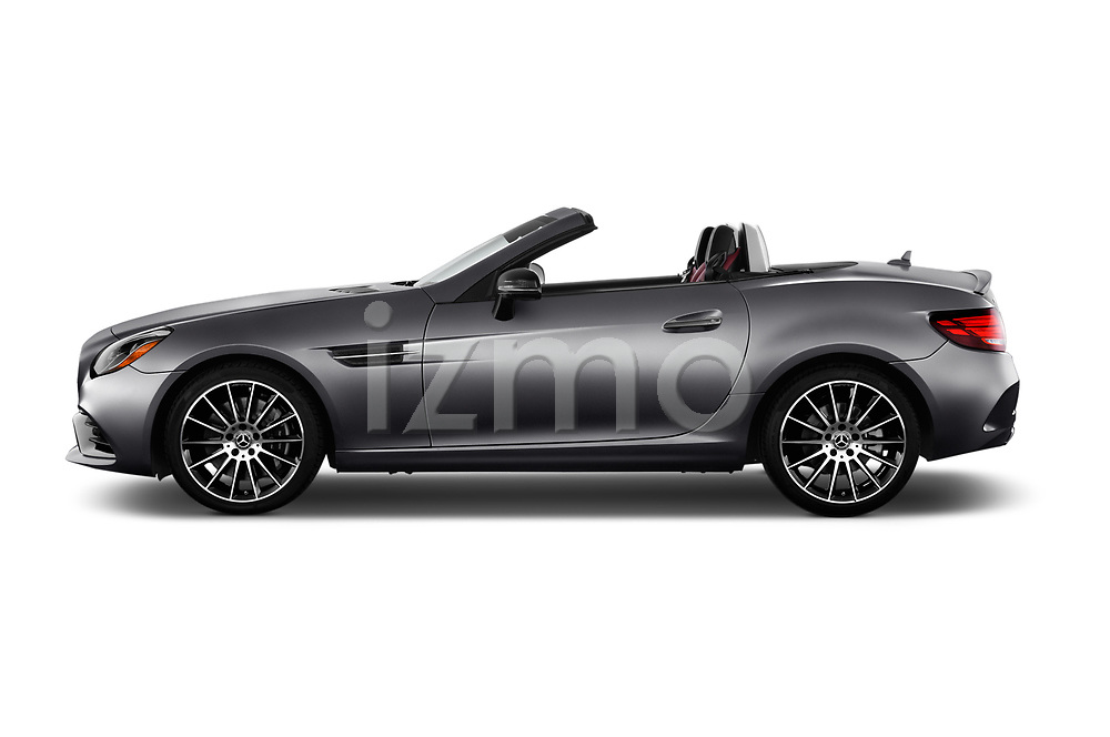 Car driver side profile view of a 2017 Mercedes Benz SLC SLC300 2 Door Convertible