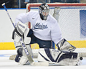 Ben Bishop - The University of Maine Black Bears practiced on Wednesday, April 5, 2006, at the Bradley Center in Milwaukee, Wisconsin, in preparation for their April 6 2006 Frozen Four Semi-Final game versus the University of Wisconsin.