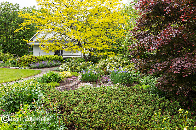 Garden in the Harpswell Historic Park  in Harpswell, Maine, USA