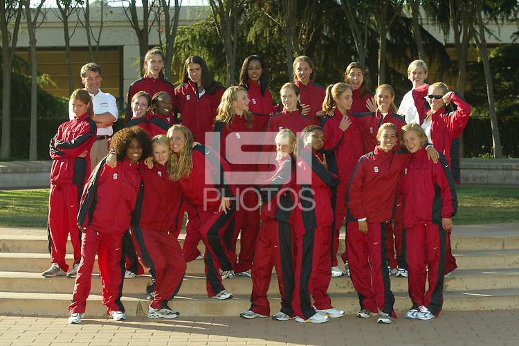 1 September 2005: Women's cross country team photo.