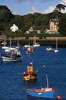 Europe/France/Bretagne/29/Finistère/Aber Benoit: Villa belle-époque et bateaux de pêche