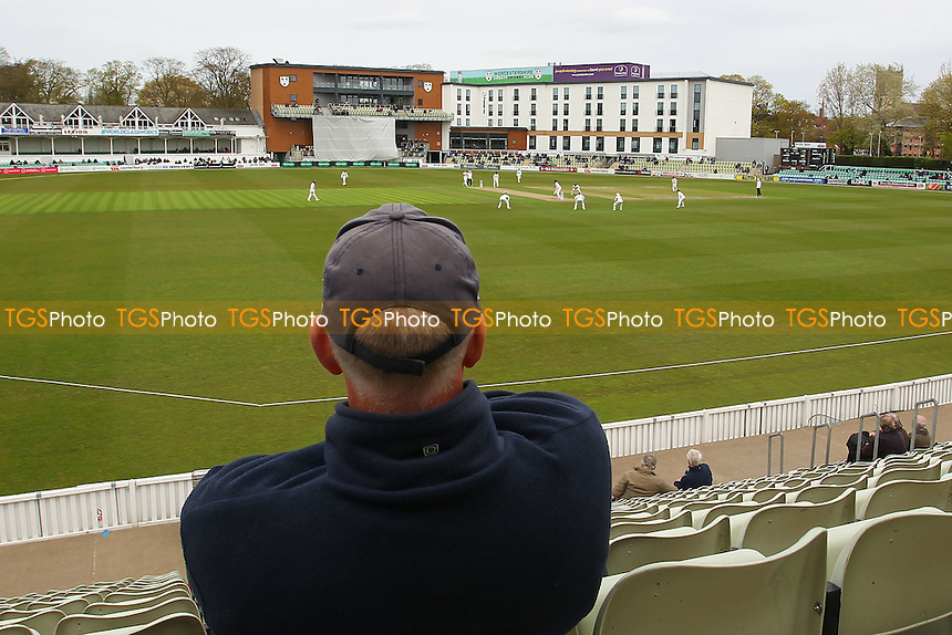 A spectator looks on during Worcestershire CCC vs Essex CCC, Specsavers County Championship Division 2 Cricket at New Road on 1st May 2016