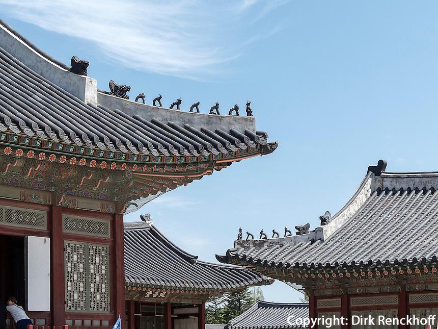 im Palast  Gyeongbukgung in Seoul, S&uuml;dkorea, Asien<br /> inside throne palace Gyeongbukgung in Seoul, South Korea, Asia