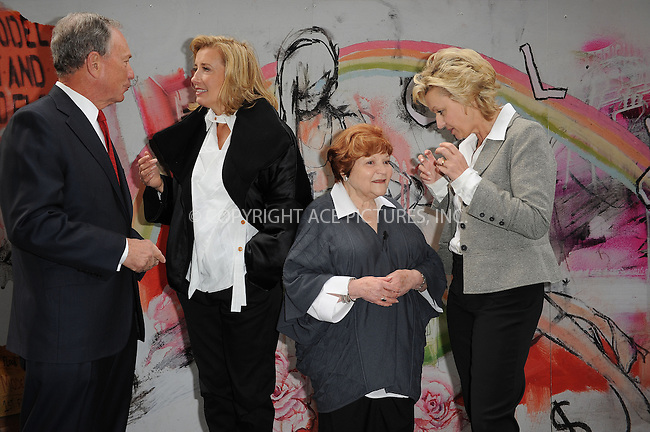 """WWW.ACEPIXS.COM . . . . . ....November 10 2009, New York City....(L-R) New York City Mayor Michael Bloomberg, actress Emma Thompson and human rights organizer Helen Bamber at the opening of the """"Journey"""" exhibition at Washington Square Park on November 10, 2009 in New York City.....Please byline: KRISTIN CALLAHAN - ACEPIXS.COM.. . . . . . ..Ace Pictures, Inc:  ..tel: (212) 243 8787 or (646) 769 0430..e-mail: info@acepixs.com..web: http://www.acepixs.com"""