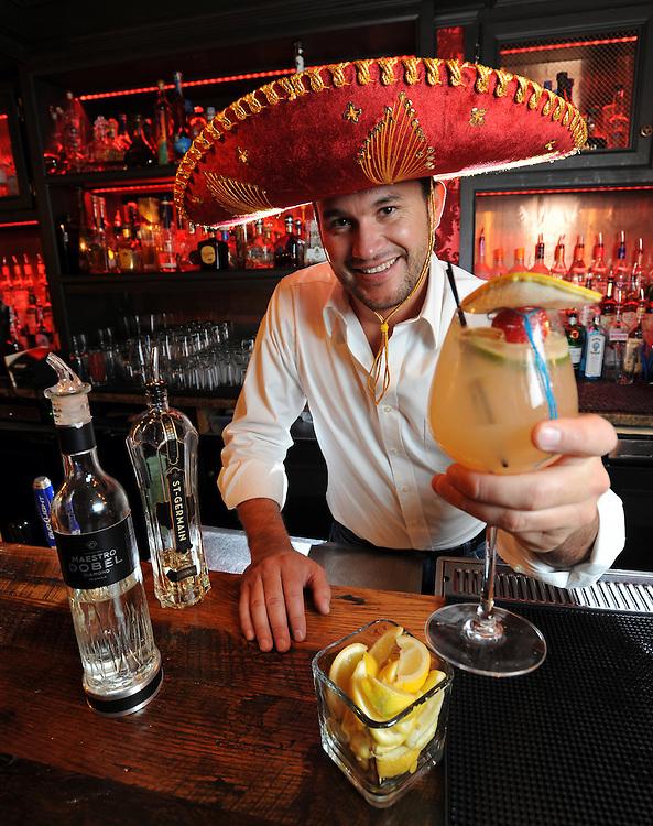 Josh Jamison serves a white lie margarita at Lolita Cocina & Tequila Bar in Boston on Friday, April 27, 2012.