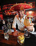 Josh Jamison serves a white lie margarita at Lolita Cocina & Tequila Bar in Boston on Friday, April 27, 2012.