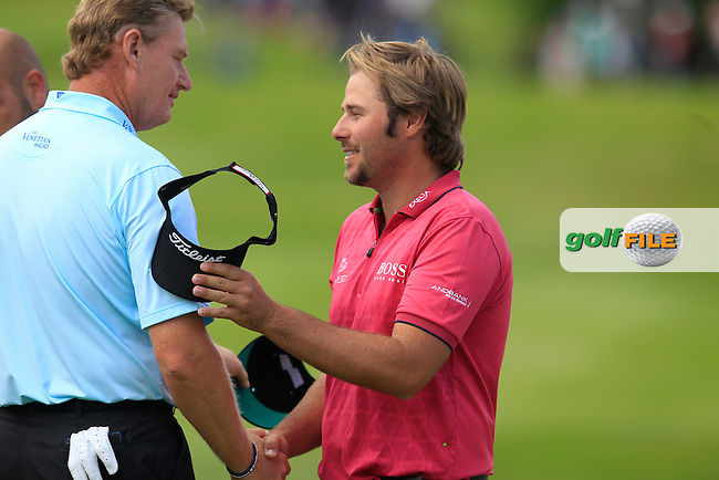 Victor DUBUISSON (FRA) during round 2 of the 2015 BMW PGA Championship over the West Course at Wentworth, Virgina Water, London. 22/05/2015<br /> Picture Fran Caffrey, www.golffile.ie: