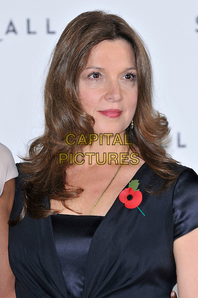 Barbara Broccoli.'Bond 23' photocall to mark the start of production of new James Bond 007 film 'SKYFALL' at Massimo Restaurant,  London, England. 3rd November 2011.headshot portrait black poppy.CAP/PL.©Phil Loftus/Capital Pictures.