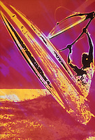 Windsurfing posterazation photo illustration