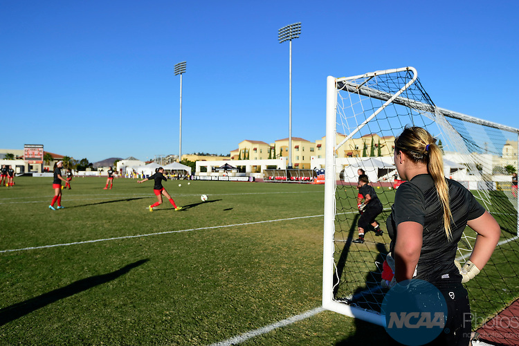6 NOV 2014: The University of New Mexico takes on the University of Wyoming during the 2014 Mountain West Women's Soccer Championship held at San Diego State University Sports Deck in San Diego, CA. Justin Tafoya/NCAA Photos