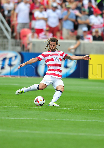 13.07.2013. Sandy, Utah, USA. Kyle Beckerman from USA during the game. The U.S. Men's National Team defeated the Cuba 4-1 Concacaf Gold Cup at Rio Tinto Stadium in Sandy, Utah.