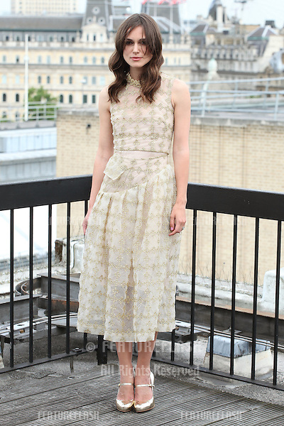 Keira Knightley  attend a photocall for 'Begin Again', London. 02/07/2014 Picture by: Alexandra Glen / Featureflash