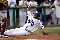 TCU's DH Joe Weik against Florida State in Game 1 of the NCAA Division One Men's College World Series on Saturday June 19th, 2010 at Johnny Rosenblatt Stadium in Omaha, Nebraska.  (Photo by Andrew Woolley / Four Seam Images)