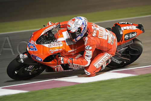 10 04 2010  ImagePhoto CI Losail Qatar 10 04 2010  MotoGP Photo Carmelo Imbesi  Casey Stoner . Action from the FIM MotoGP Qatar World Cup.
