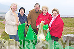 ..CLEAN UP: A group from the surrounding area of Loher Cannon, who went to Cockle Shell, Lohercannon, Tralee on Saturday for the big clean up. l-r: Jeane Campbell,Esther Coffey, Mossie Kelly,Phil Calbert and Angela O'Dowd.....   Copyright Kerry's Eye 2008