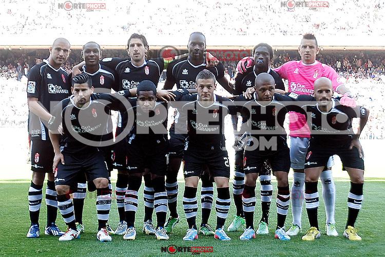 Granada's team during La Liga BBVA match. April 14, 2013.(ALTERPHOTOS/Alconada)
