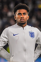 England Under 21's forward Reiss Nelson (7) during the UEFA Euro U21 Qualifying match between England U21 & Kosovo U21 at KCOM Craven Park, Hull, England on 9 September 2019. Photo by Stephen Buckley / PRiME Media Images.
