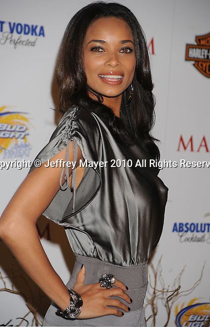 LOS ANGELES, CA. - May 19: Rochelle Aytes arrives at the 11th Annual MAXIM HOT 100 Party at Paramount Studios on May 19, 2010 in Los Angeles, California.