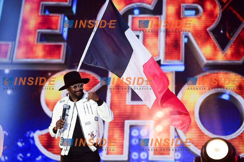 Will I am - William James Adams <br /> Parigi 09-06-2016 Champ de Mars <br /> Concerto apertura Campionati di Calcio Francia Euro 2016 <br /> Foto Panoramic / Insidefoto