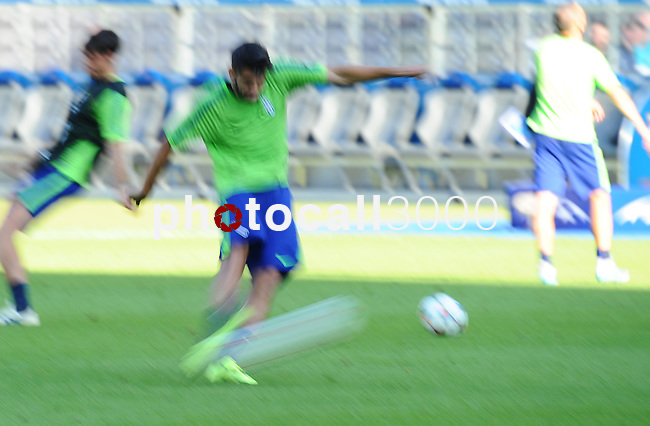 training prior to the final match of the champions league