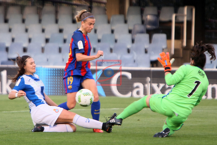 Spanish Women's Football League Iberdrola 2016/17 - Game: 21.<br /> FC Barcelona vs RCD Espanyol: 5-0.<br /> Maria Molina, Barbara Latorre &amp; Mimi.