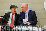 Michael Healy Rae and John Brassil  at the Kerry General Election Count in Killarney.