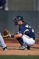 Milwaukee Brewers Max McDowell (55) during an instructional league game against the Cleveland Indians on October 8, 2015 at the Maryvale Baseball Complex in Maryvale, Arizona.  (Mike Janes/Four Seam Images)
