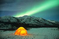 Winter Camping and the Northern Lights, Brooks Mountain Range, Alaska