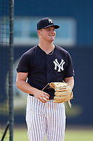 New York Yankees pitcher Clarke Schmidt (6) throws living batting practice during Minor League Extended Spring Training on June 5, 2018 at the Yankees Minor League Complex in Tampa, Florida.  (Mike Janes/Four Seam Images)