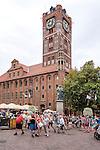 Toruń (województwo kujawsko-pomorskie) 22.07.2016. Toruński Ratusz Staromiejski to architektura gotycka światowej klasy, obecnie mieści się tam siedziba Muzeum Okręgowego.