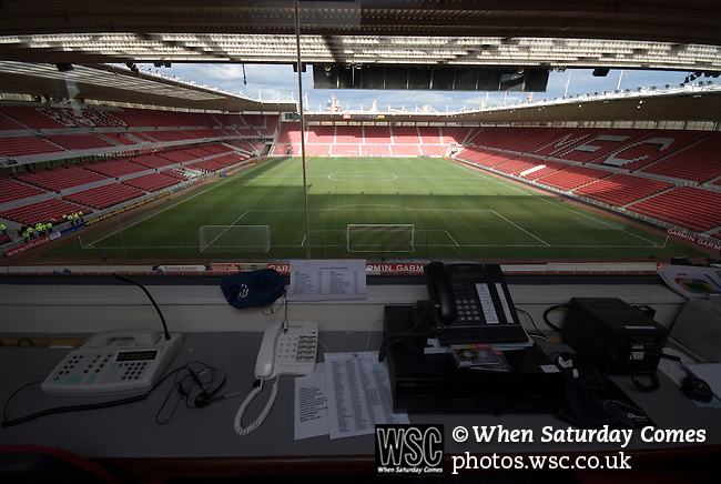The stadium control room. Middlesbrough 0 Wigan Athletic 0, 21/02/2009. The Riverside Stadium, Middlesbrough. Premier League. Photo by Paul Thompson.