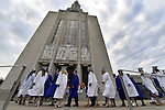 Students march into the Cathedral of St. Joseph,  during the fifty-second East Catholic High School graduation ceremony,  Thursday, June 2, 2016, in Hartford. (Jim  Michaud / Journal Inquirer)