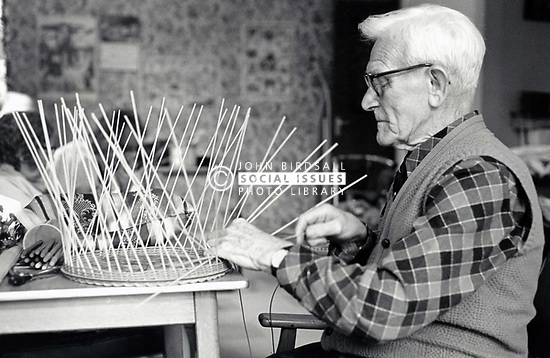 Basket making at Nuffield House Day Centre, Nottingham UK 1985