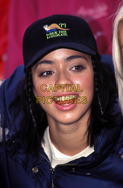 S CLUB 7 - TINA BARRETT ..Ref:8952/1010i..baseball cap, walk for wildlife, tongue, mouth open..www.capitalpictures.com..sales@capitalpictures.com..