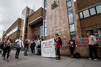 "24.04.2014 - ""Arms Dealers On Trial"" - Demo At Thames Magistrates Court"