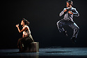 "Ballet Black presents a double bill of ""The Suit"", choreographed by Cathy Marston, and ""A Dream Within A Midsummer Night's Dream"", choreographed by Arthur Pita, in the Barbican theatre. Shown here is: ""The Suit"". Picture shows: Isabela Coracy, Jose Alves (Philemon)."