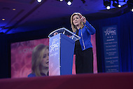 National Harbor, MD - March 3, 2016: U.S. Rep. Marsha Blackburn of Tennessee addresses attendees of the 2016 Conservative Political Action Conference, hosted by the American Conservative Union, at the Gaylord National Hotel in National Harbor, MD, March 3, 2016. Each year, CPAC brings thousands of  people together to hear and interact with conservative movement leaders.   (Photo by Don Baxter/Media Images International)