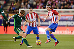 Atletico de Madrid's Filipe Luis and Koke Resurrección and Real Betis's Rafa Navarro during La Liga match between Atletico de Madrid and Real Betis at Vicente Calderon Stadium in Madrid, Spain. January 14, 2017. (ALTERPHOTOS/BorjaB.Hojas)
