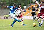 St Johnstone v Rangers&Ouml;21.05.17     SPFL    McDiarmid Park<br /> Craig Thomson&iacute;s shot is pushed wide by Jak Alnwick<br /> Picture by Graeme Hart.<br /> Copyright Perthshire Picture Agency<br /> Tel: 01738 623350  Mobile: 07990 594431
