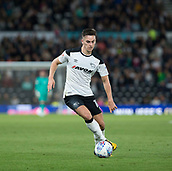 8th September 2017, Pride Park Stadium, Derby, England; EFL Championship football, Derby County versus Hull City; Tom Lawrence of Derby County changes direction on the ball