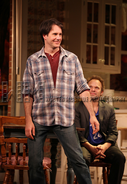 Josh Hamilton & Norbert Leo Butz during Broadway Opening Night Performance Curtain Call for 'Dead Accounts' at the Music Box Theatre in New York City. November 29, 2012.