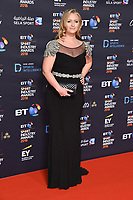 Hayley McQueen arriving for the BT Sport Industry Awards 2018 at the Battersea Evolution, London, UK. <br /> 26 April  2018<br /> Picture: Steve Vas/Featureflash/SilverHub 0208 004 5359 sales@silverhubmedia.com