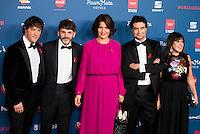 Jordi Cruz, Fernando Tejero, Samantha Vallejo, Pepe Rodriguez and Loles Leon attends to the photocall of the Gala Sida at Palacio de Cibeles in Madrid. November 21, 2016. (ALTERPHOTOS/Borja B.Hojas) //NORTEPHOTO.COM
