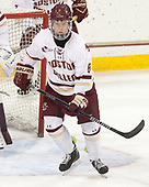 Jesper Mattila (BC - 8) - The visiting University of Vermont Catamounts tied the Boston College Eagles 2-2 on Saturday, February 18, 2017, Boston College's senior night at Kelley Rink in Conte Forum in Chestnut Hill, Massachusetts.Vermont and BC tied 2-2 on Saturday, February 18, 2017, Boston College's senior night at Kelley Rink in Conte Forum in Chestnut Hill, Massachusetts.